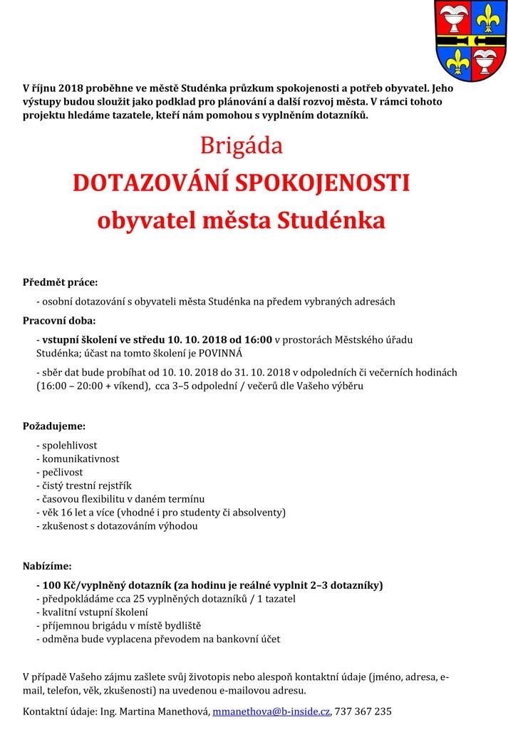 Mesto Studenka Nabizi Brigadu Sak Studenka